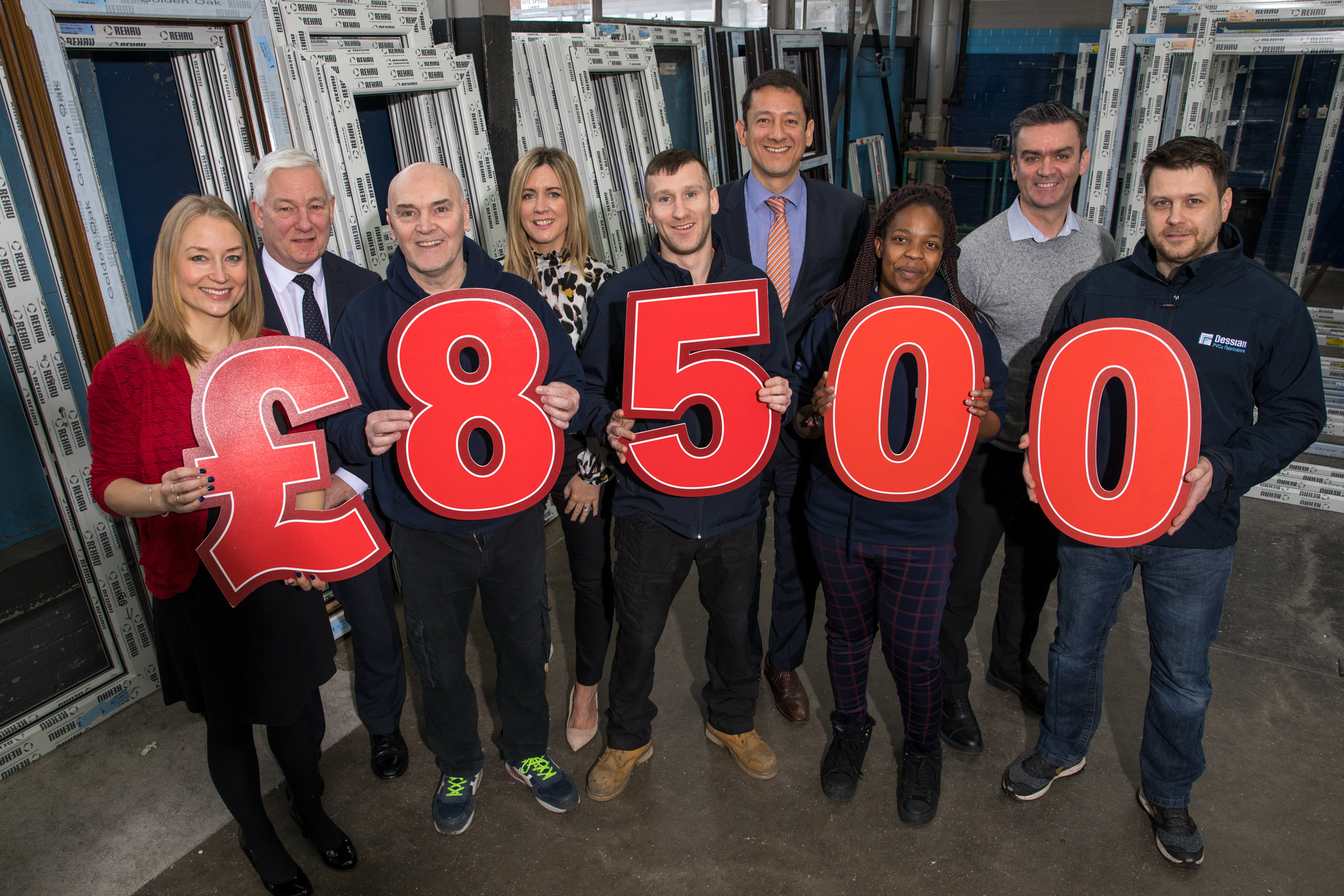 Windowmate helps raise £8500 for Action Cancer